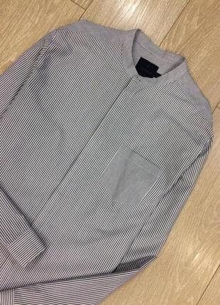 Рубашка котоновая в полоску topman