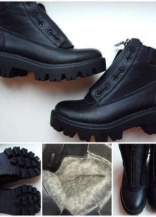 Зимние, кожаные ботинки. 36 размер