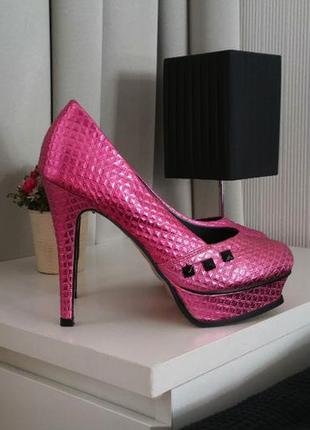 Шикарные туфли на платформе iron fist в стиле эмо панк рок метал готика размер 39