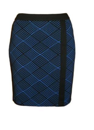 Прямая юбка тисненая ткань с 3 d эффектом наш размер 12 наш 46