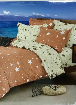 Нежное персиковое постельное белье из 6-и единиц sofy