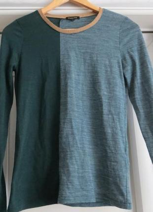 Теплый пуловер с шерстью massimo dutti