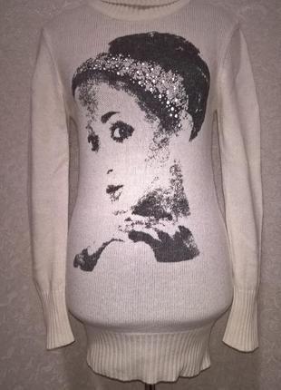 Удлиненный свитер oggi