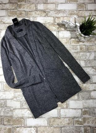 Стильный удлиненный блейзер с карманами, трикотажный жакет, кардиган, пиджак new look4
