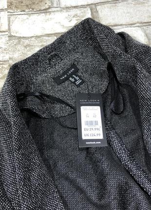 Стильный удлиненный блейзер с карманами, трикотажный жакет, кардиган, пиджак new look5