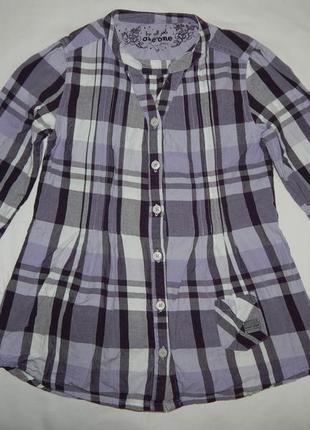 Хлопчатое фиолетово-белое платье one by one в клеточку. на девочку 8 лет рост 128 см.