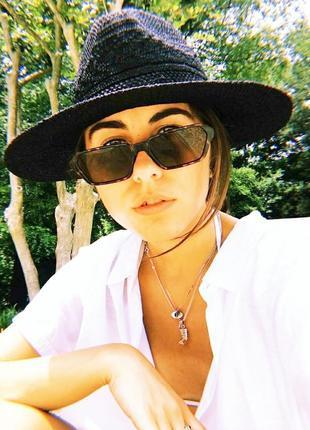 Леопардовые коричневые солнцезащитные очки прямоугольные женские новинка тренд