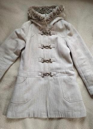 Отличное пальто new look шерсть
