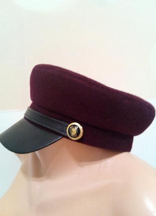Трендовая кепи . капитанка. фуражка. кепи. стильная женская кепка.