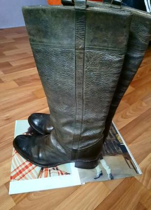 Мегатрендовые ковбойские сапоги/казаки, двойная кожа, италия от бренда vero cuoio