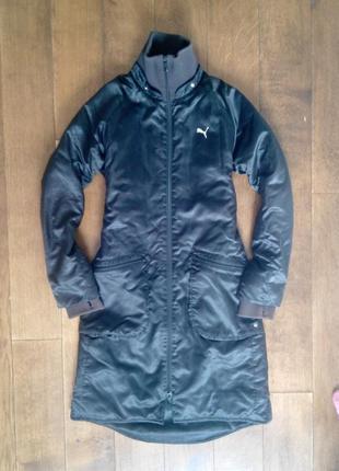 Женская длинная куртка puma размер s. пойдет на m
