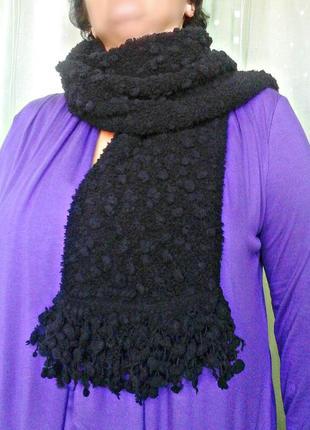 Необычный буклированный шарфик