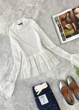 Пикантная блуза с игривыми воланами  bl1848090 missguided