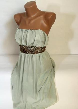 Нарядное выпускное платье обшитое бисером river island