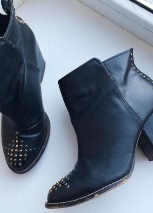 Ботильоны ботинки на удобном каблуке