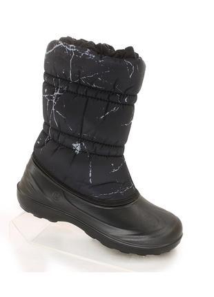 Дутики черные женские сапоги сноубутсы, не промокают