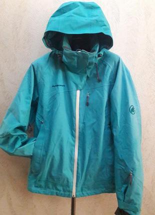 Утепленная лыжная термо куртка mammut яркая