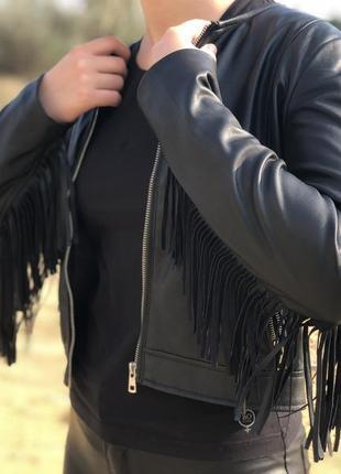 Лёгкая куртка с бахромой