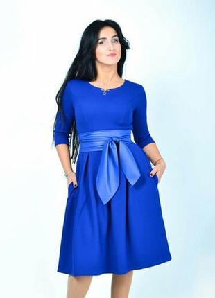 Срочно продам платья синие с поясом