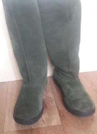 Зимние сапоги из натуральной замши 36 размер