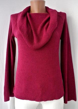 """Красивый,стильный свитер """"promod"""" бургунди с воротником-хомут.размер m."""