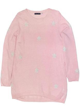 Новый розовый свитер в звездочки для девочки, original marines, 3783