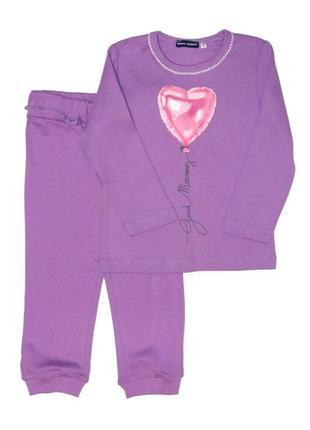 Новая фиолетовая пижама с принтом для девочки, original marines, 3774