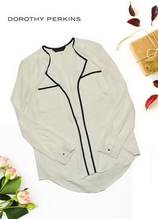 Блуза рубашка с декольте и карманами dorothy perkins
