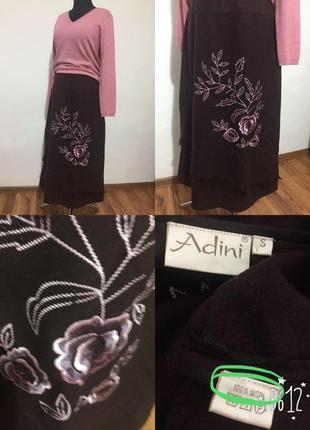 Фирменная, натуральная, шерстяная, тёплая, длинная юбка, 100% шерсть, супер качество!!!