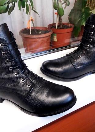"""Мягкие кожаные прочные ботинки """" new look """"! англия! 41 р."""