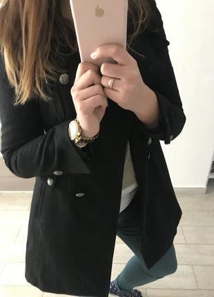 Двубортное шерстяное пальто из америки victoria's secret s,m