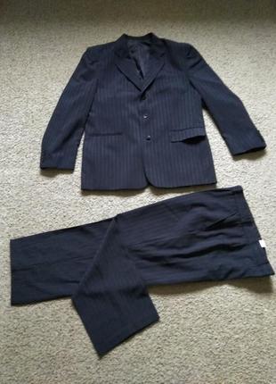 Костюм мужской классический пиджак и брюки разм 52-54 одет 1 раз