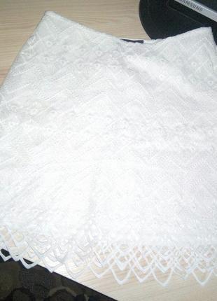 Новая кружевная белая офисная юбка или на корпоратив, бренд janina, kik, германия