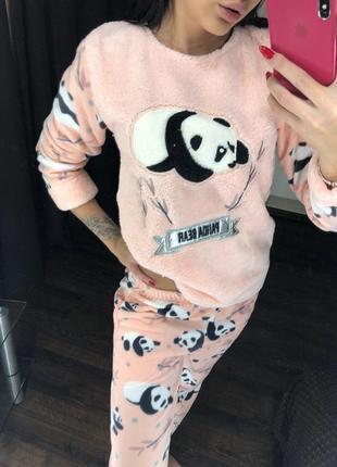 Теплая пижама домашний костюм !много расцветок! размеры s-xl