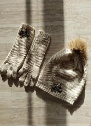 Шерстяная шапка и перчатки, my twinset