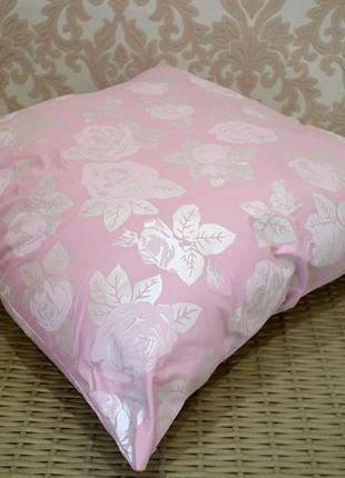Подушка розовая холлофайбер, 50*70см