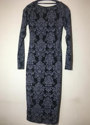 Шикарное платье по фигуре миди boohoo с серебристым напылением