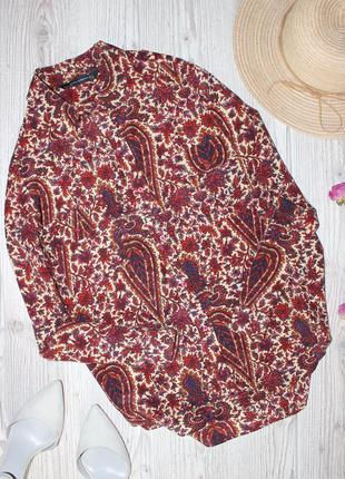 Рубашка zara  100% шёлк малберри (блуза)