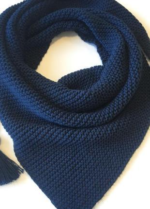 Бактус вязаный шарф треугольником зима шарф in ua