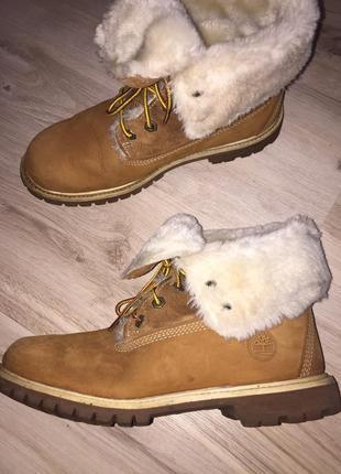 Зимние ботинки на меху timberland 39р