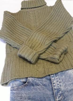 Теплый вязаный свитер ручной работы!!!