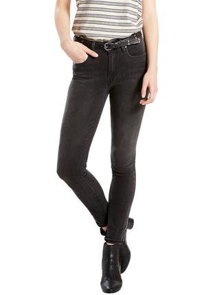 Джинсы levis 721 26х30 high rise skinny jeans. оригинал. черные\серые\левис\скинни