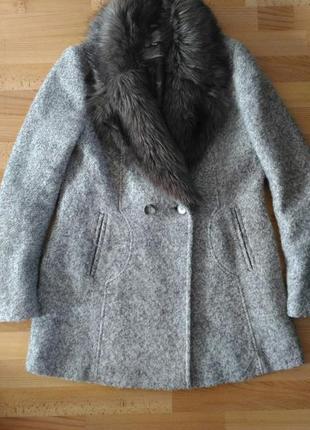 Шерстяное пальто next 12p(пальто оверсайз ,пальто бойфренд)