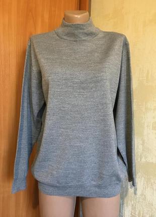 Базовый меланжевый свитер гольф!