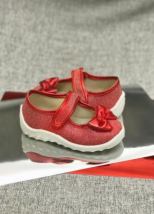 Блестящие тапочки туфельки для девочки waldi