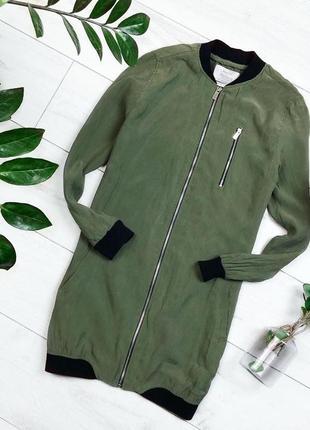 Удлененная курточка , цвета хаки