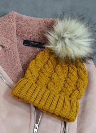 New look шапка с помпоном