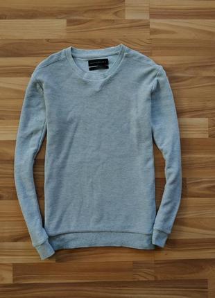 Базовый хлопковый серый свитшот zara man essentials