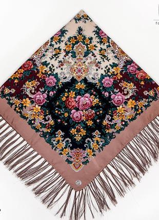 Шерстяной павлопосадский платок услада 1271.2