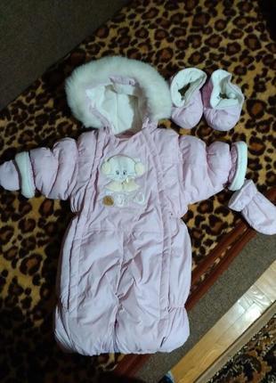 Комбінезон-трансформер для дівчинки, сезон весна-осінь, зима конверт 74 розмір